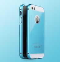 Чехол-накладка на Apple iPhone 6/6S, пластик, алюминий, синий