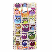 Чехол-накладка на Samsung A3 силикон, owls