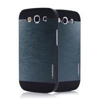 Чехол-накладка на Samsung S3 пластик, motomo, черно-серый