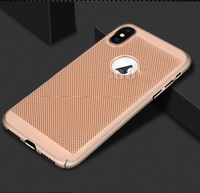 Чехол-накладка на Apple iPhone 7/8/SE2, пластик, перфорация, золотистый