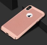 Чехол-накладка на Apple iPhone X/Xs, пластик, перфорация, розовый
