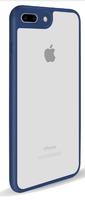 Чехол-накладка на Apple iPhone 7/8, силикон, пластик, окантовка, прозрачный, синий