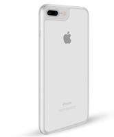 Чехол-накладка на Apple iPhone 6/6S, силикон, пластик, окантовка, прозрачный, белый