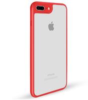 Чехол-накладка на Apple iPhone 6/6S, силикон, пластик, окантовка, прозрачный, красный