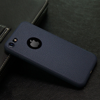 Чехол-накладка на Apple iPhone 7/8 Plus, силикон, под кожу, с вырезом, синий
