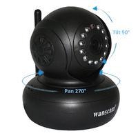 IP-камера Wanscam HW0021, 720p, Wi-Fi, LAN, microSD, вращение 360 гр, ночной режим, черный