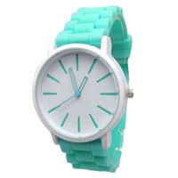 Часы наручные Noname, ц.белый, р.зеленый, силикон
