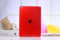 Чехол накладка для Apple iPad mini 4, силикон, прозрачный, красный