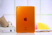 Чехол накладка для Apple iPad mini 4, силикон, прозрачный, оранжевый