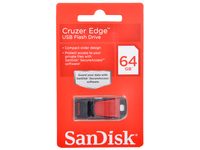 Память USB 2.0 Flash, 64GB, SanDisk Cruzer Edge