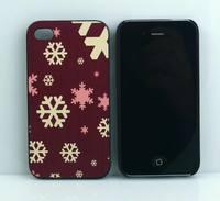 Чехол-накладка на Apple iPhone 4/4S, пластик, snow