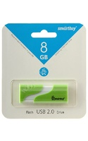 Память USB 2.0 Flash, 8GB, Smart Buy Hatch Green
