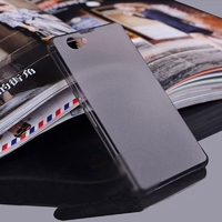 Чехол-накладка на Sony Xperia Z1 compact пластик, ультратонкий, серый