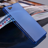 Чехол-накладка на Sony Xperia Z1 compact пластик, ультратонкий, синий