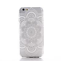 Чехол-накладка на Apple iPhone 6/6S, силикон, полупрозрачный, узор 2, белый