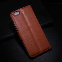 Чехол-книжка на Apple iPhone 5/5S, кожа, магнитный, коричневый