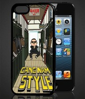 Чехол-накладка на Apple iPhone 5/5S, пластик, Gang nam style