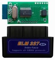 Диагностический сканер ELM327 OBD2 v.1.5, Bluetooth, 2 платы, черный, 25K80, bpack