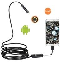 Камера эндоскоп microUSB/USB, 5.5мм, 2м, 640*480, IP67, с подсветкой