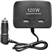 Разветвитель автоприкуривателя OLESSON 1511 (3 выхода + 2 USB)