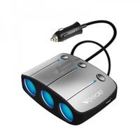 Разветвитель автоприкуривателя VEECLE KY-548 (3 выхода + 2 USB)