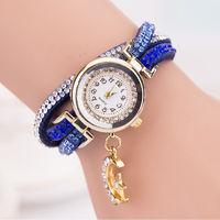 Часы наручные Noname, ц.белый, р.синий, кожа Д02281
