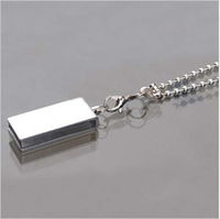 Память USB 2.0 Flash, брелок, серебристый, 8 Gb