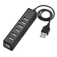 USB-хаб 2.0,  Орбита OT-PCR10, 7 портов, черный