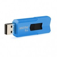 Память USB 2.0 Flash, 8GB, Smart Buy Stream Blue