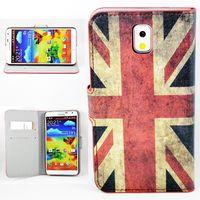 Чехол-книжка на Samsung Note 3 полиуретан, UK flag