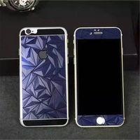 Цветное защитное стекло для Apple iPhone 6/6S комплект, 4D, синий