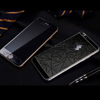Цветное защитное стекло для Apple iPhone 5/5S/SE комплект, 4D, черный