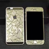 Цветное защитное стекло для Apple iPhone 6/6S комплект, 4D, золотистый