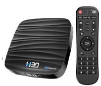 Медиаплеер H30, Android 10, RK3318, 2/16GB, SD, 2xUSB, OTG, HDMI, Wi-Fi AC, BT, LAN, SPDIF, AV
