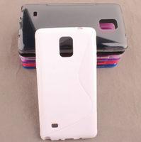 Чехол-накладка на Samsung Note 4 силикон, белый