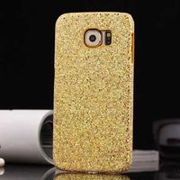 Чехол-накладка на Samsung S6 пластик, блестящий, золотистый