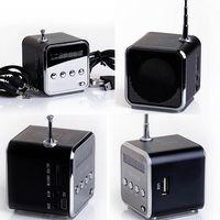Портативная колонка, TD-V26, FM Radio, microSD, USB, дисплей, черный