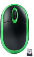 Мышь беспроводная, Noname, оптическая, 3кн, матовая, зеленый