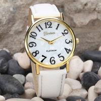 Часы наручные Geneva, ц.белый, р.белый, кожа Д01379