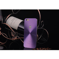 Чехол-накладка на Apple iPhone 4/4S, пластик, алюминий, CD, фиолетовый
