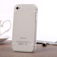 Чехол-накладка на Apple iPhone 4/4S, пластик, белый, флюорисцентный