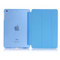 Чехол Smart-cover для Apple iPad 2/3/4, полиуретан, пластик, разборный, голубой