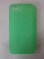 Чехол-накладка на Apple iPhone 4/4S, силикон, матовый, зеленый