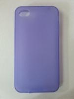 Чехол-накладка на Apple iPhone 4/4S, силикон, матовый, фиолетовый