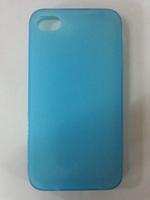 Чехол-накладка на Apple iPhone 4/4S, силикон, матовый, бирюзовый