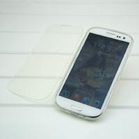 Чехол-книжка на Samsung S3 силикон, прозрачный