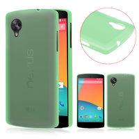 Чехол- накладка LG Google Nexus 5, пластик, зеленый