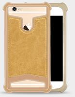 """Чехол-накладка универсальная, силик.бампер, 4.7""""-5.0"""", золотистый"""