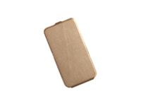 """Флип-кейс универсальный, силик.бампер, 5.0"""", золотистый"""