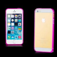 Бампер на Apple iPhone 5/5S, алюминий, розовый
